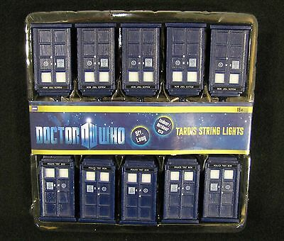 Officially Licensed Doctor Who TARDIS String Lights Christmas Lights NEW IN PACK