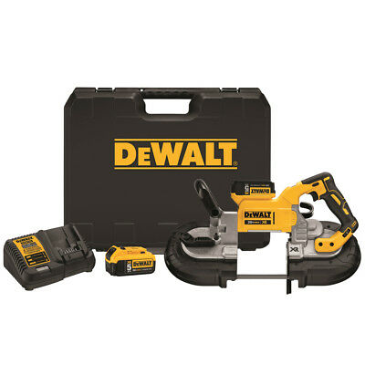 "DEWALT 20V MAX XR 5.0 Ah Cordless Li-Ion 5"" Band Saw Kit DCS374P2 New"