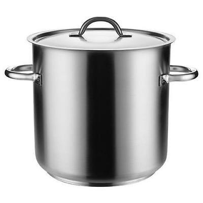 Stockpot with Lid, 33.6L, Stainless Steel, Pujadas 'Top Line', Stock Pot Cooking