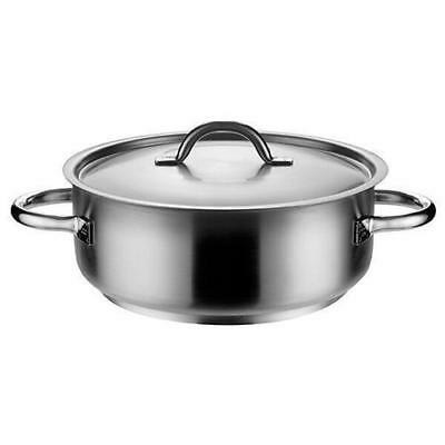 Casserole Dish with Lid, 19.5L, Stainless Steel, Pujadas 'Top Line', Pot / Pan