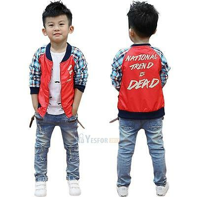 Toddler Kids Baby Boy Ripped Jeans Straight Denim Jean Pants Skinny Trousers New