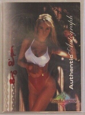 1997 Benchwarmer Autograph Card - RED ink - Suzi Simpson #7 of 12