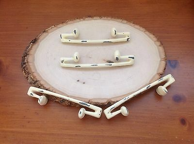 202 VTG MidCentury Handles In Ivory Shabby Chic! Four Available