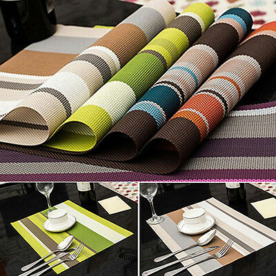 PVC Quick-drying Placemat Insulation Mat Coasters Kitchen Dining Table Deluxe