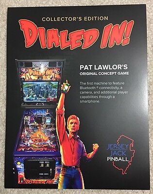 Jersey Jack Dialed In Collectors Edition Pinball Flyer! Dialed In Pinball!!