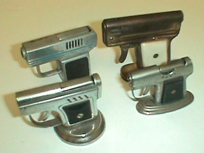 4 Piece Lot Of Non Branded Gun Shaped Lighters Made In Occupied Japan