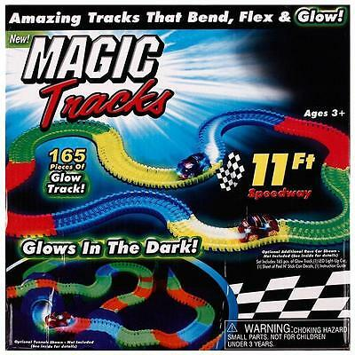 NEW Magic Tracks Amazing Flexible, Bendable and Glowing Race Track Kids Gifts