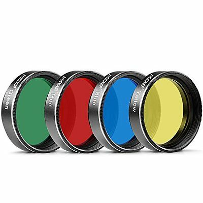 """Neewer? Standard 1.25"""" Four Color Filter Set for Telescope Eyepiece: Perfect for"""