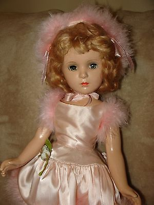"Vintage Madame Alexander compo ""BABS"" Ice Skater, 1949, original outfit, NICE!"