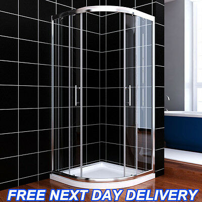 Walk In Quadrant Shower Enclosure Corner Entry Cubicle 6mm Safety Glass Screen