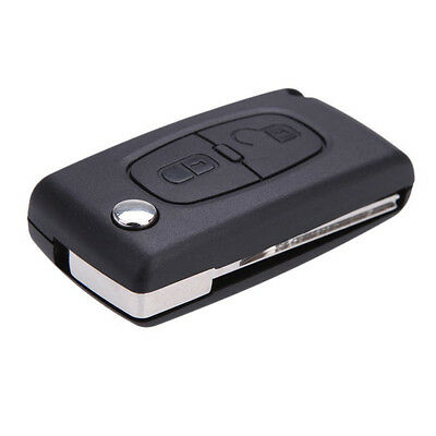 Flip Remote Keyless Key case shell for PEUGEOT 307 307S 308 407 607 2Button U0