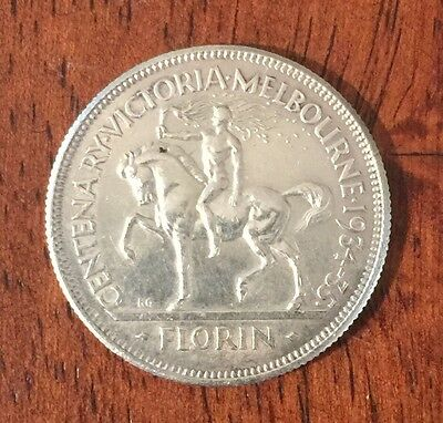 1934/5 Australian Florin Coin  -  Melbourne Centenary  -  Ef  Condition