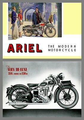 1938 Ariel Motorcycles sales catalogue - Reproduction