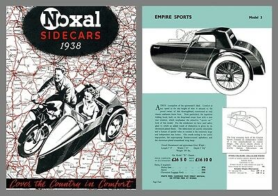 1938 Noxal Sidecars sales catalogue - Reproduction