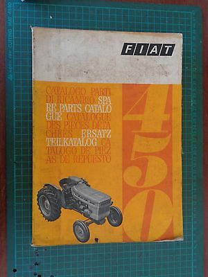 Vintage tractor manual FIAT 450, complete but worn
