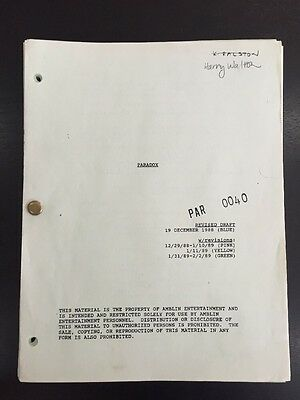 Back to the Future Part II 1988 Original Movie Script Screenplay -Paradox BTTF 2