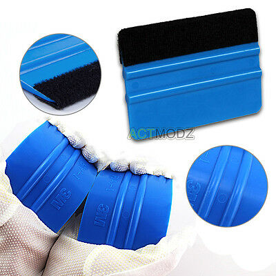 Car Vinyl Film Wrapping Tools 3M Scraper Squeegee with Felt Edge Blue Color New