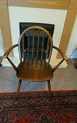 Vintage ERCOL Quaker Style Stick back Carver Dining Office Study Chair