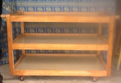 Large 3 Tier Wooden Tea / food / catering trolley