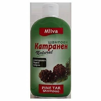 Milva Natural Pine Tar Shampoo - Hair Loss, Anti Dandruff 200 ml