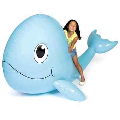 Giant Inflatable Whale Vinyl Decoration Vacation Bible School 6 Ft x 54In x 4 Ft