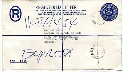 Nigeria - 1962 Registered Letter cover with used postage stamps