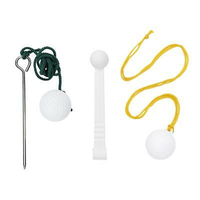 3x Golf Club Driving Range Ball Rope Swing Hit Practice Training Aid Tool