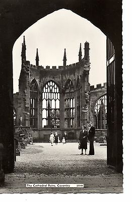 Postcard - Cathedral ruins, Coventry un-used
