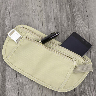 Travel Security Pouch Waist Passport Money Card Ticket Belt Hidden Bag Wallet