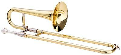 Brass Slide Trombone Bb Tuning Clear Lacquered Mouthpiece Cleaning Cloth Case