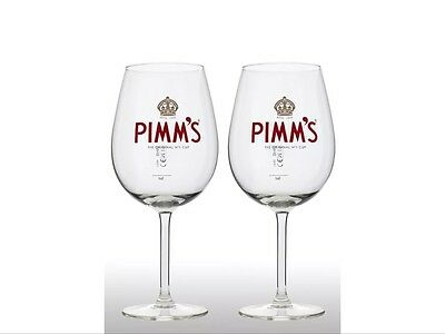Pimm's Balloon Glasses With Pimm's Stirrers X 2 New