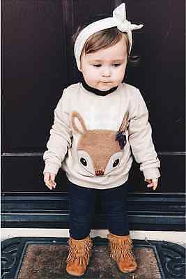 Winter Toddler Baby Girl Boy Fox Warm T-shirt Pullover Tops Sweatshirt Clothes