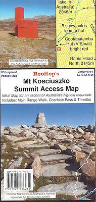 Rooftop Mt Kosciuszko Summit Access Map *FREE SHIPPING - NEW*