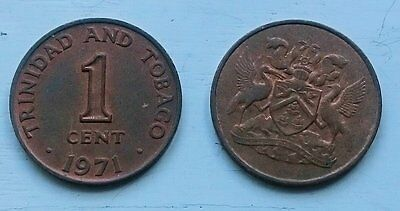 2 x 1 Cent 1971 - Trinidad and Tobago - Bronze -  Umlaufmünze