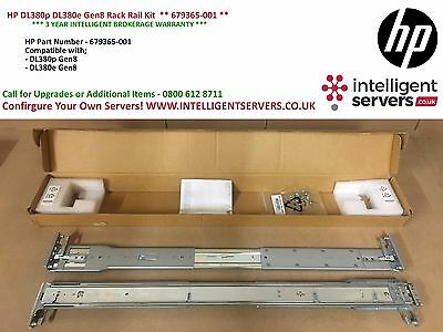 HP DL380p DL380e Gen8 Rack Rail Kit  ** 679365-001 **