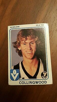 1981 Scanlens AFL / VFL Peter Daicos Rookie Card Collingwood Magpies