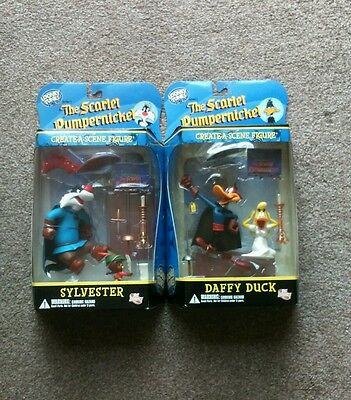 Looney Tunes Create a Scene Figures Sylvester & Daffy Duck