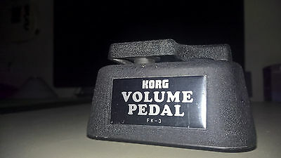 Korg Fk-3~Rare Vintage Volume Control Pedal~2 Channels~Very Good Condition
