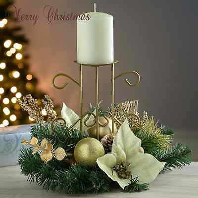 Christmas Candle Holder Home Ornament Decoration Gift Wreath Garlands Xmas Decor