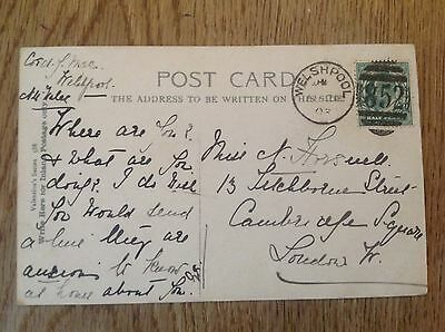 Postcard Richmond Terrace  postmark Welshpool 852