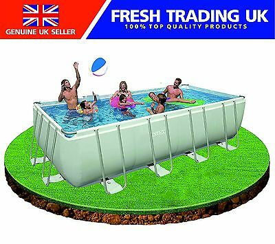 Intex 18ft x 9ft x 52in Rectangular Ultra Frame Swimming Pool + Pump + Ladder