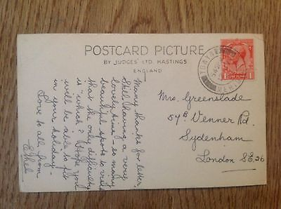 Postcard Happy Valley Aberdovey postmark 1935 ?? Towyn