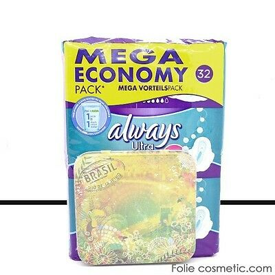 Always Ultra - Mega Economy Pack de 32 Serviettes Hygiéniques - Long Plu
