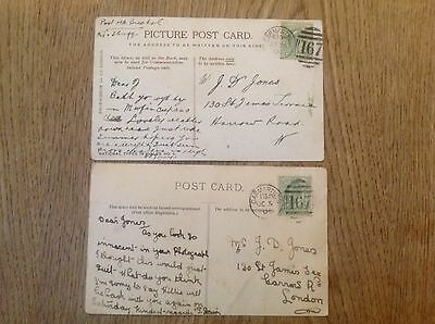 Job lot of 2 Postcard  Welsh ladies glamour Carmarthen 167 postmarks