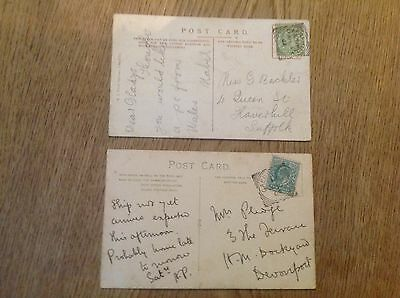Job lot of 2 Postcard  St Martins Church and Castle Caerphilly  postmarks