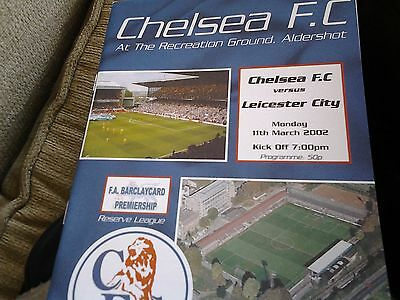 chelsea v leicester 01.02 Reserves barclays lge