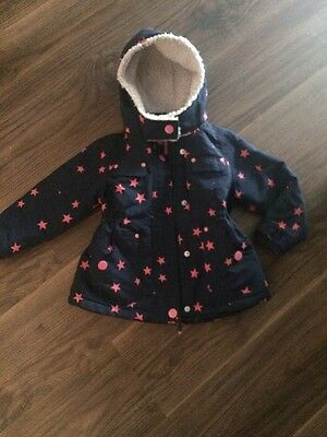 LITTLE GIRLS WINTER NEXT COAT JACKET Age 3-4 Navy /pink