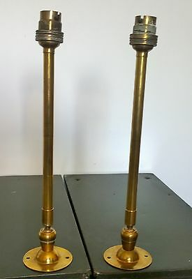 Reclaimed Pair Of Adjustable Brass Wall Lights Lamps Sconces MEM Pivot 2