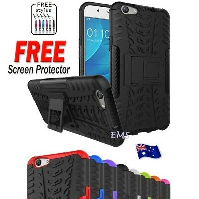 Heavy Duty Tough Strong TPU Case Cover For Oppo F1S A59 A1601 + Screen Protector