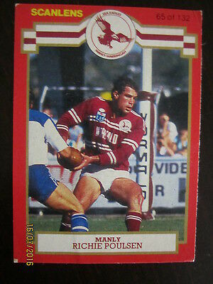1986 Scanlens Card; Richie Poulsen; Manly Seaeagles